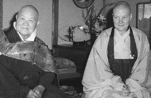 Rev. Master Jiyu with her master Koho Zenji