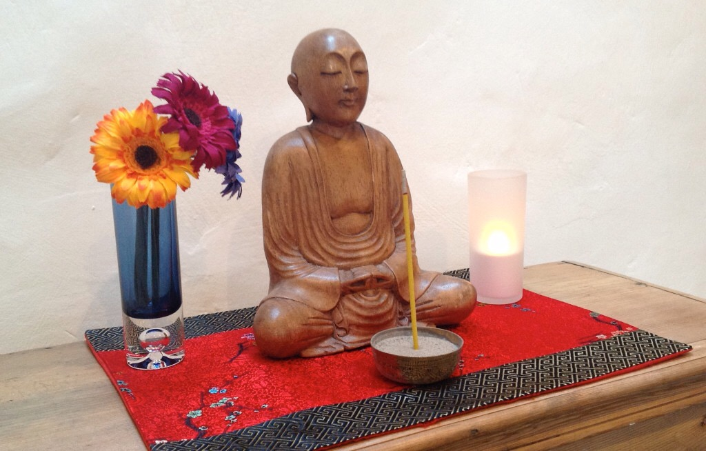 Altar at Sitting Buddha Hermitage